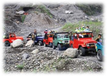 AMAZING RACE GAMES FUN ADVENTURE JEEP MERAPI